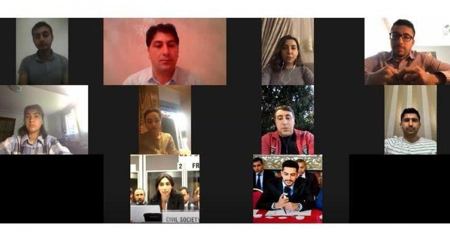Состоялась первая видеоконференция зарубежных координаторов платформы Karabakh is Azerbaijan!