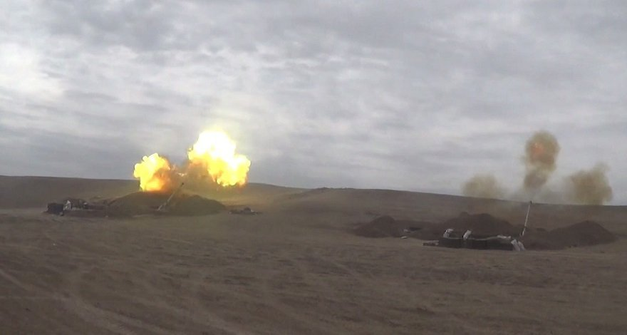 Артиллерийские подразделения Азербайджана наносят сокрушительные удары по противнику - ВИДЕО