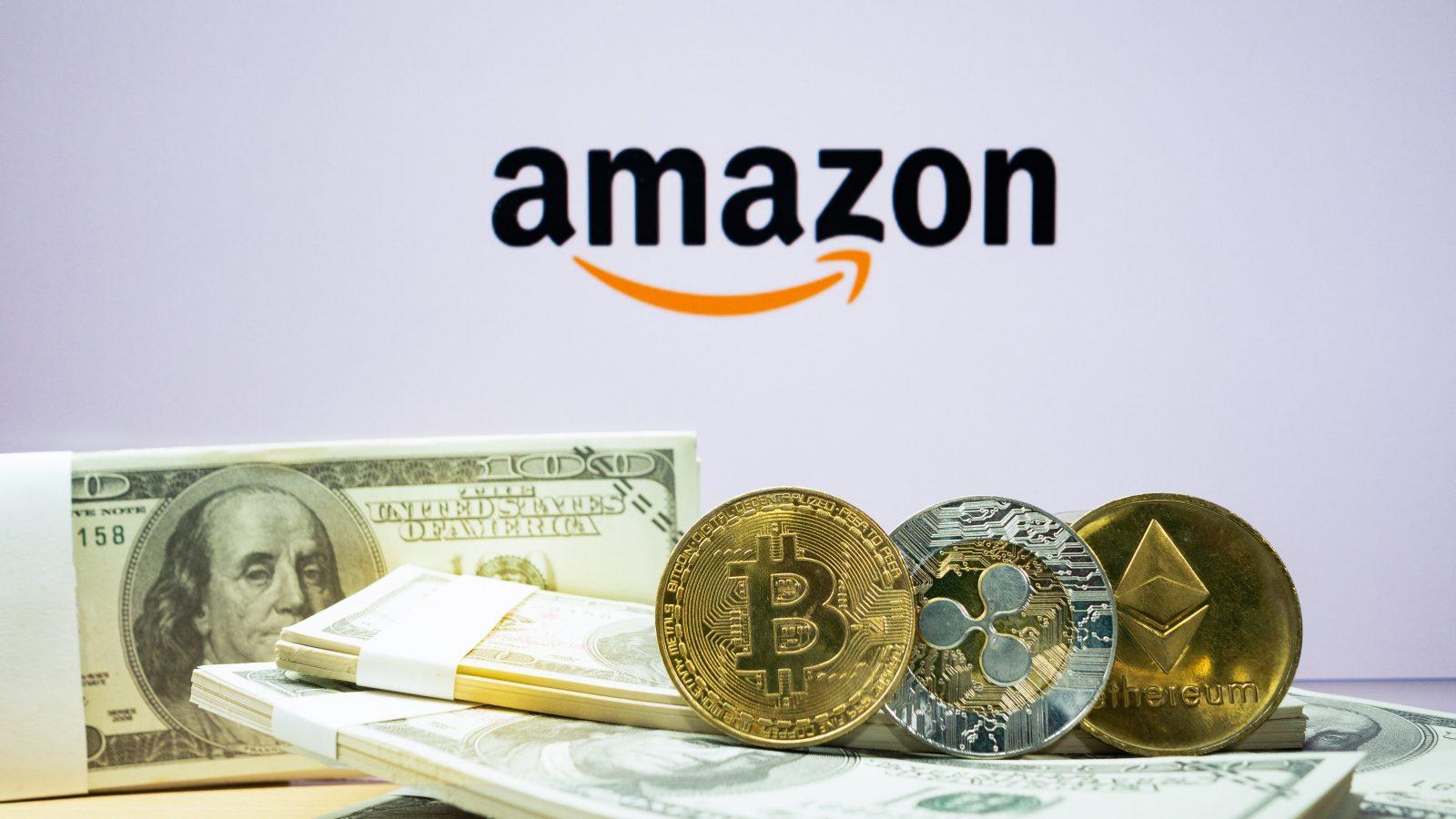 amazon bitcoin crypto blockchain shutterstock 1398562568